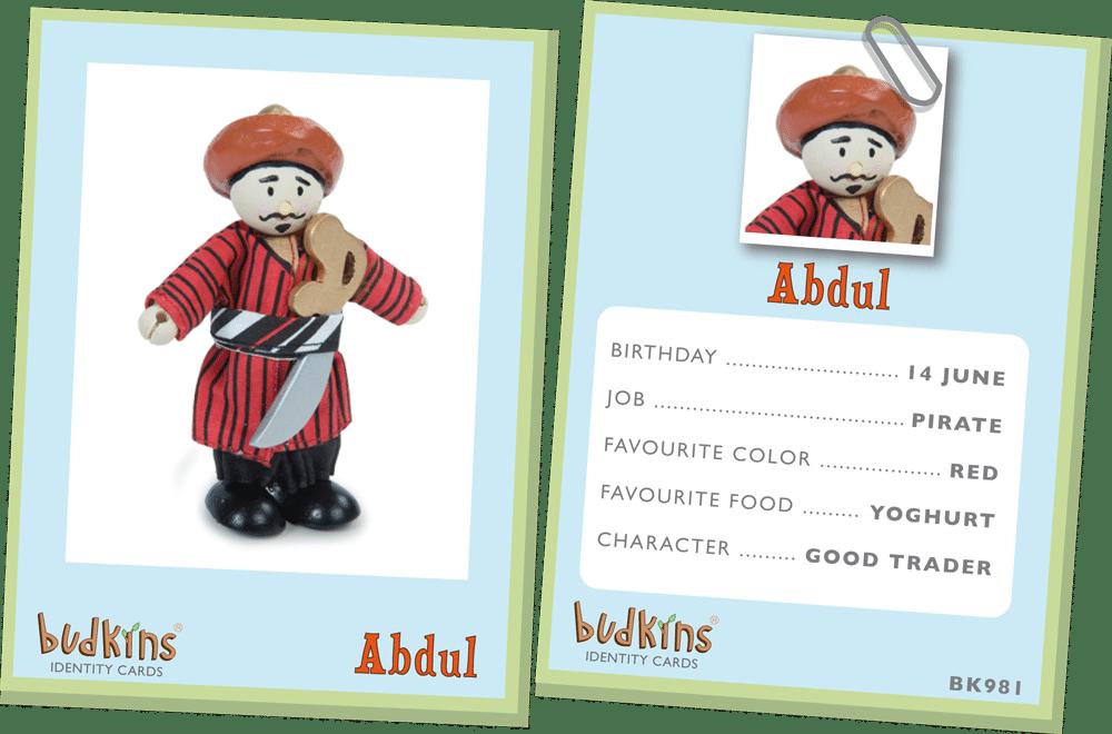 Budkins Oriental Pirate Abdul Le Toy Van BK981