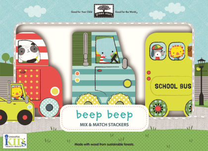 Green Start Mix & Match Stackers Beep Beep - Innovative Kids