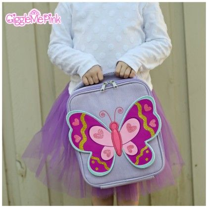 Butterfly Lunch Bag - Giggle Me Pink