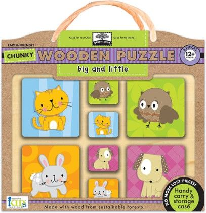 Green Start Chunky Wooden Big And Little Puzzles - Innovative Kids