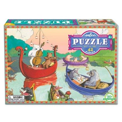 Party On The Lake 42 Piece Puzzle - EeBoo