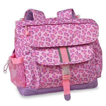 """""""sassy Spot Leopard"""" Kids Backpack - Pink & Purple Leopard - Bixbee"""