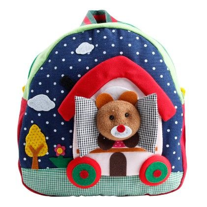 Red & Blue Backpack - Poco & Picotine