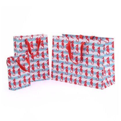 Sea Horse Gift Bag- Set Of 3 - Magnolia Design