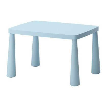 Children's Table Indoor & Outdoor Light Blue - Home Essentials