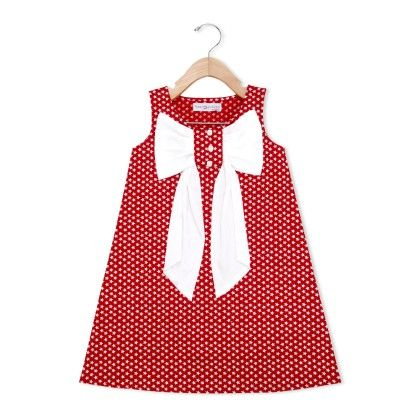 Big Bow Dress - Red - Free Spirited
