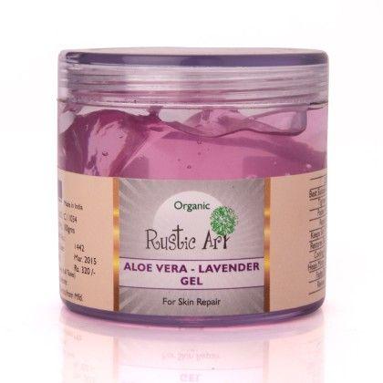 Organic Aloe Vera Gel Lavender Gel - Rustic Art