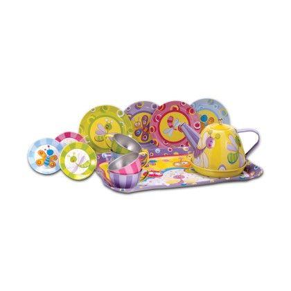 Summer Bug Tin Tea Set - Schylling Toys