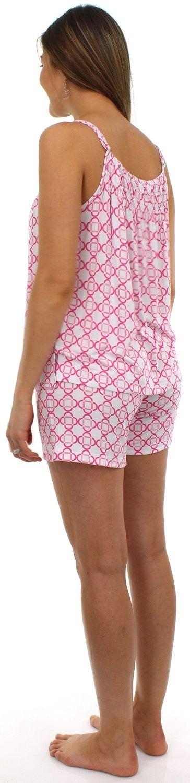 d26f5a82b15a40 Hopscotch - Pajama Heaven - Pajama Heaven Women s Bamboo Jersey Tank and Short  Pajama Set - Cherry Blossom