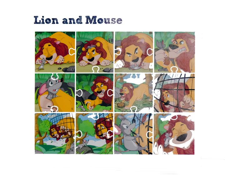 Lion & Mouse Jigsaw Puzzle-Story Teller