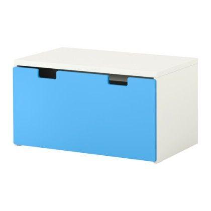 Storage Bench- White & Blue - Home Essentials