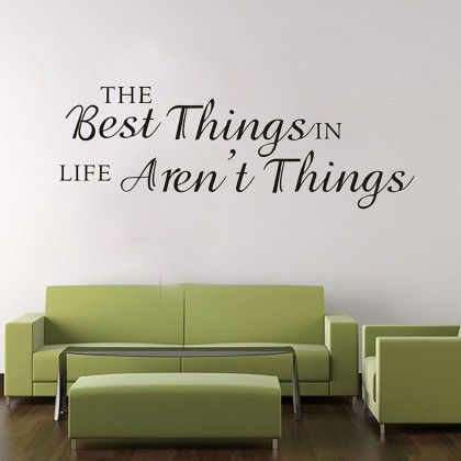 Uberlyfe Best Things In Life Wall Sticker