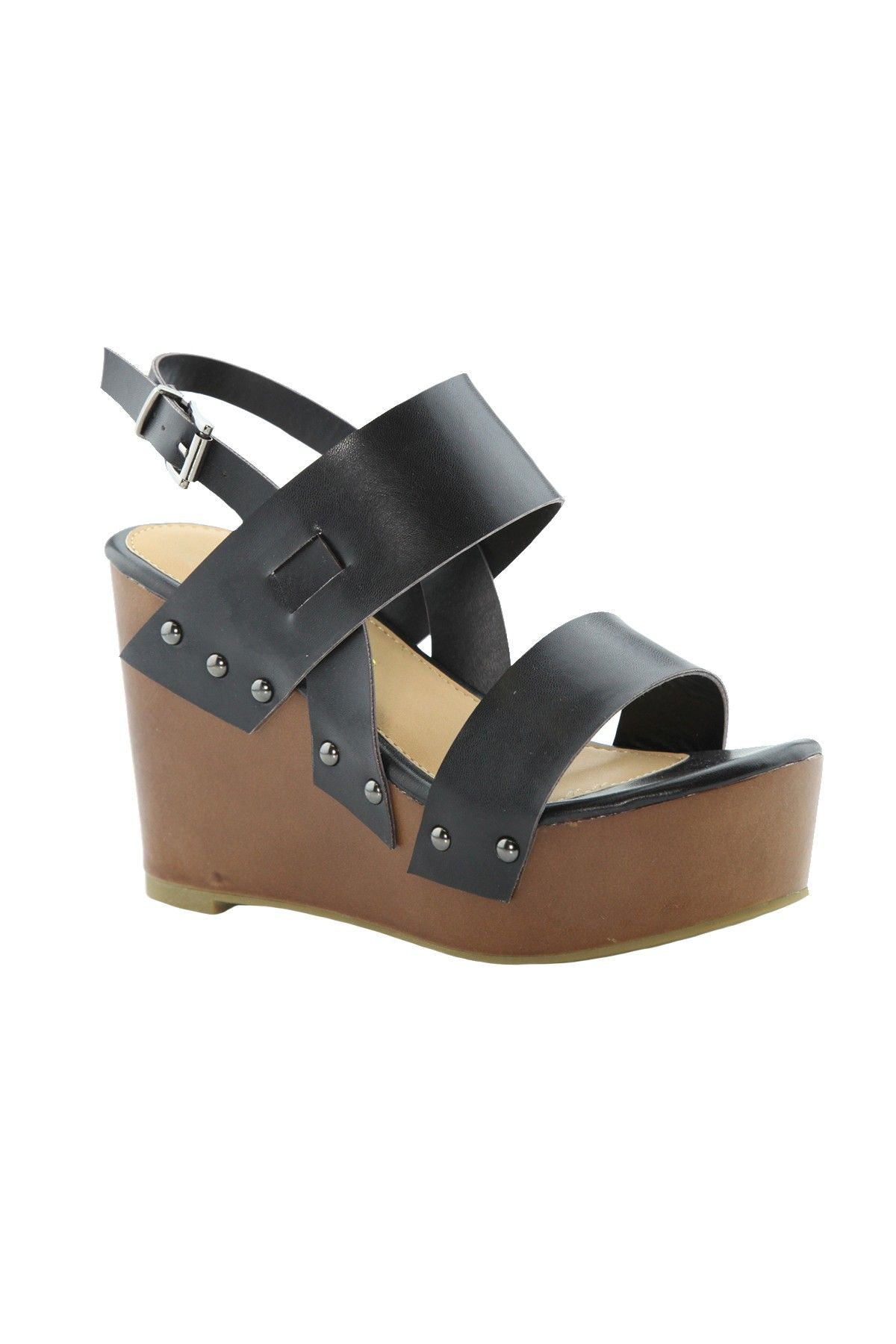 Teresa Teresa Wedge Wedge Sandal Platform Platform Sandal Black OPXNnkZ0w8