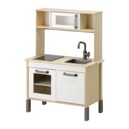 Play Kitchen- Birch & White - Home Essentials