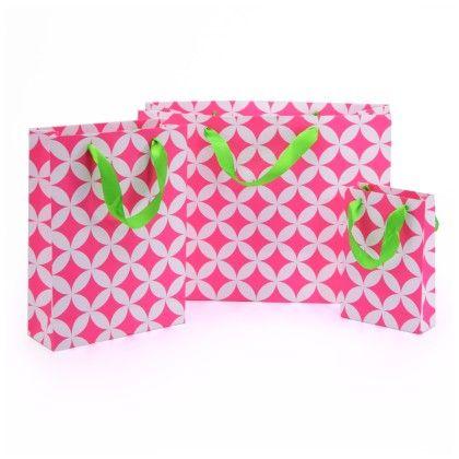 Pink Moroccan Circle Gift Bag- Set Of 3 - Magnolia Design