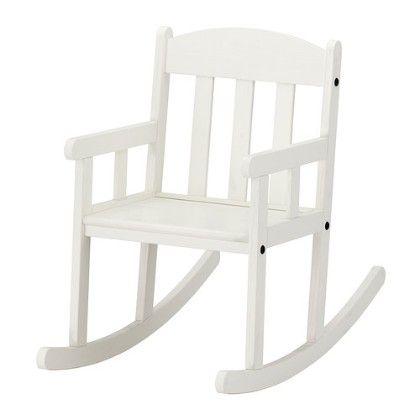 Childrens Rocking Chair - White - Home Essentials