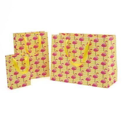 Flamingo Gift Bag- Set Of 3 - Magnolia Design
