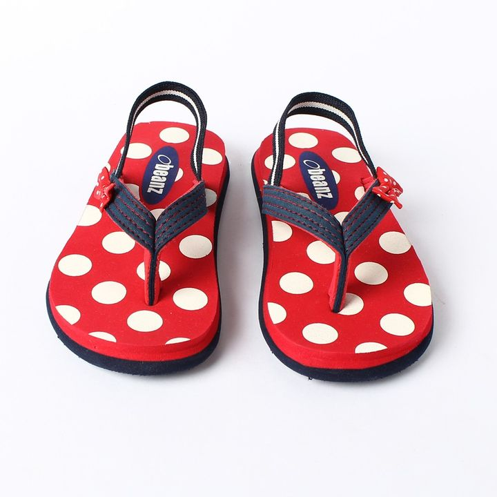 d5ab78770 Hopscotch - Beanz - Pearls Printed Red And Navy Flip Flops