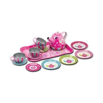 Musical Tin Tea Set - Schylling Toys