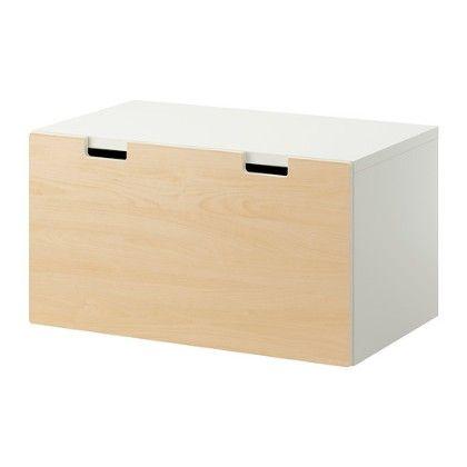 Storage Bench- White & Birch - Home Essentials