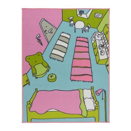 Low Pile Roomate Rug - Multicolor - Home Essentials