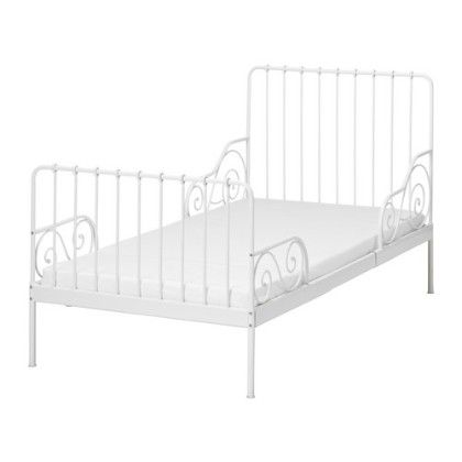 Bed Frame With Slatted Bed Base- White - Home Essentials