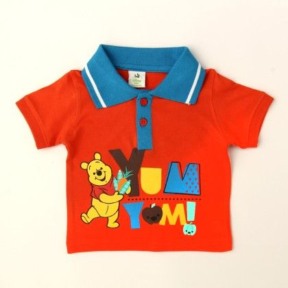 Disney Winnie The Pooh Boy's Polo T-shirt - Kids Chakra
