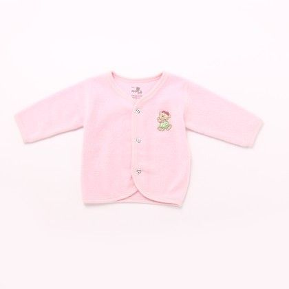 Front Open Plain Polar Fabric With Full Sleeve - Pink - Mom's Pet