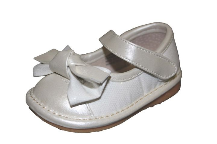 6389a4c4c7 Hopscotch - Laniecakes - White Sparkle Bow Squeaky Mary Janes