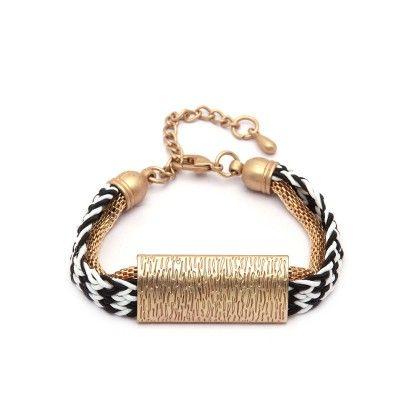 Black And White Cord Bracelet - Miss Flurrty