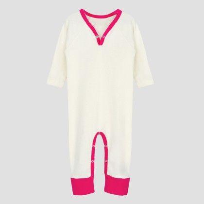 Ivory- Hotpink Long Sleeve Jumpsuit - A.T.U.N