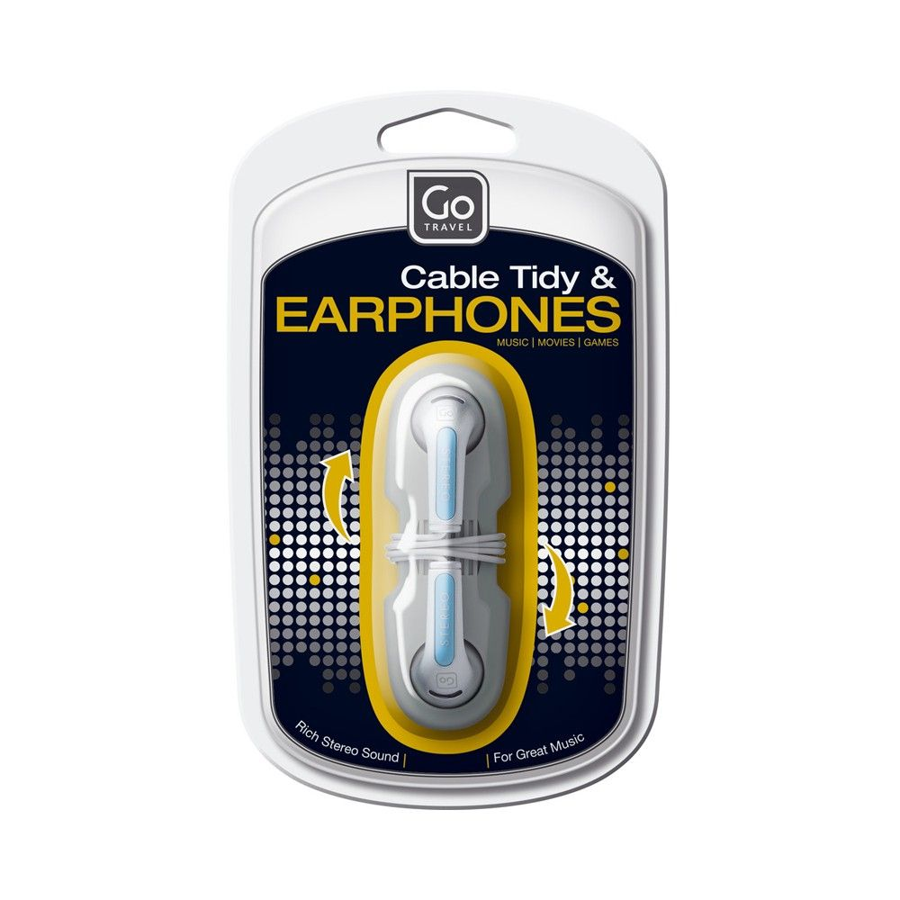 Cable Tidy Earphones - Assorted - Go Travel