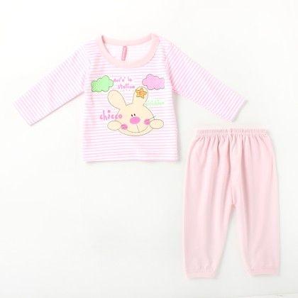 Chicco Printed Girl's Pyjama Set - Pink - Naturelle