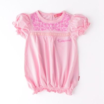 Girls Short Sleeve Top With Print On Chest - Kids Planet