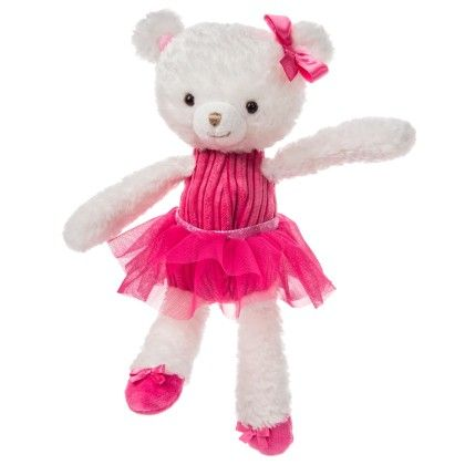 "White Pinky Toes Teddy- 11"" - Mary Meyer"
