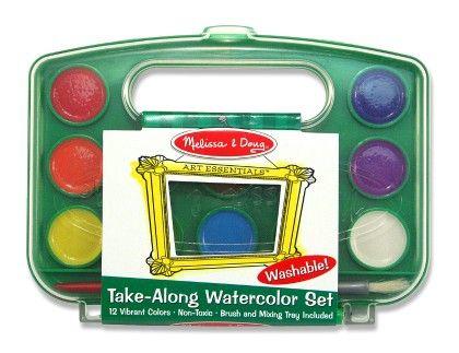 Take-along Watercolor Paint Set - MELISSA & DOUG
