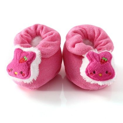 Wonderkids Pink Teddy Face Baby Booties