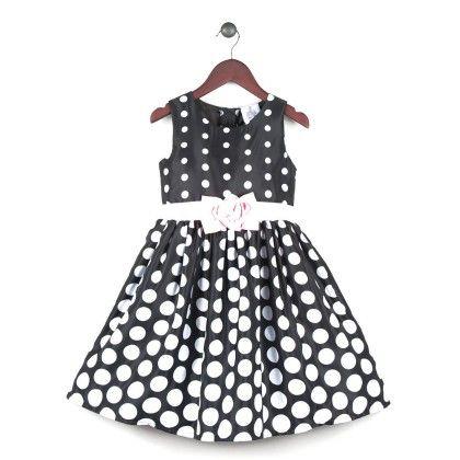 Cascading Polka Dot Dress With Bow - Joe Ella