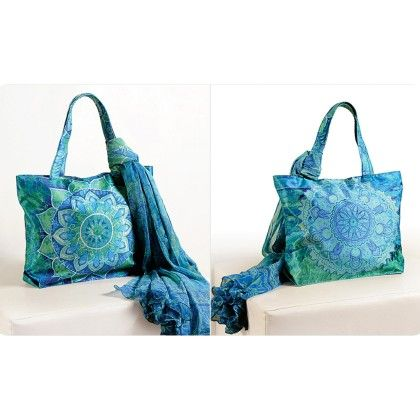 Swayam Digital Printed, Fashion Shopping Bag With Trendy Scarf (with Nice Motif)-1