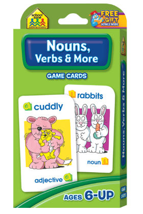 Nouns, Verbs & More Game Cards - The School Zone