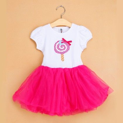 Rose Red Candy Print Tutu Dress - The Aria Collection