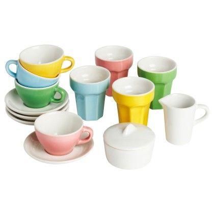 10 Piece Coffee/tea Set - Multicolor - Home Essentials