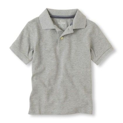 Short Sleeve  Solid Polo - Grey - The Children's Place