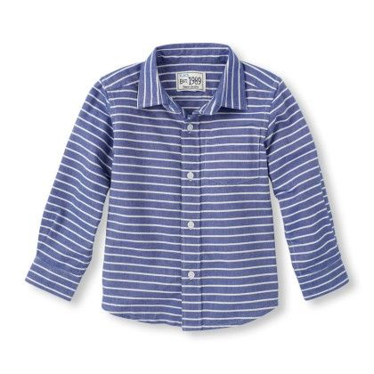 Long Sleeve Striped Oxford Shirt - The Children's Place