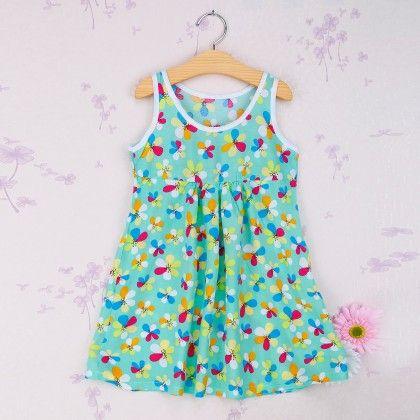 Green Multi Floral Print Dress - Snuggle Bunny