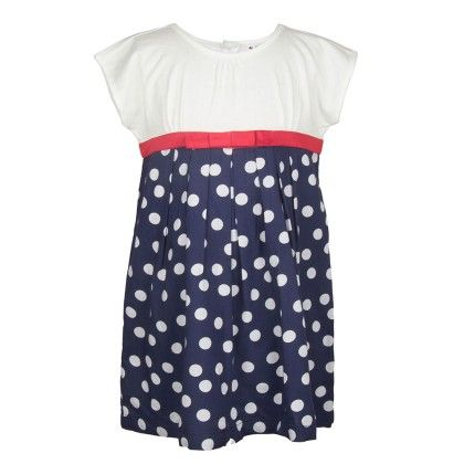 White & Blue Polka Dot Dress - My Lil'Berry