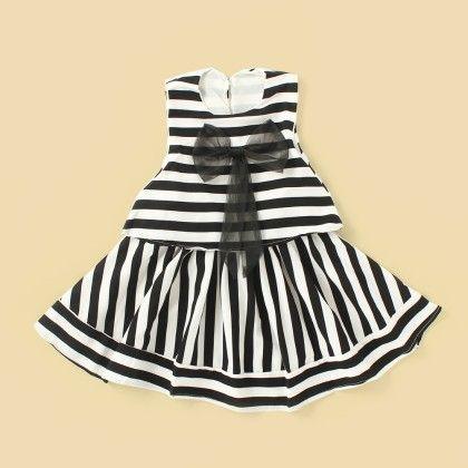 Mix Stripe Dress - Lil Mantra