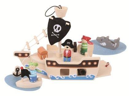 Mini Pirate Ship Playset - Big Jig Toys