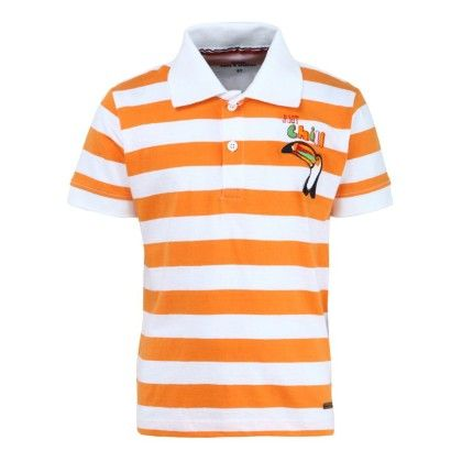Striped Polo Tee For Boys - Bells & Whistles
