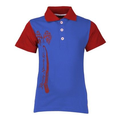 Cool Quotient Ready Steady Go Polo-royal Blue